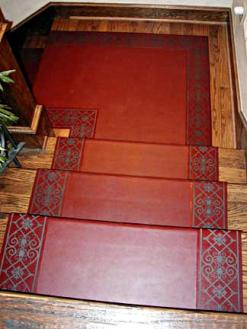 Laser-engraved-leather-stair-treads