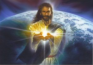 Jesus Hands of Light