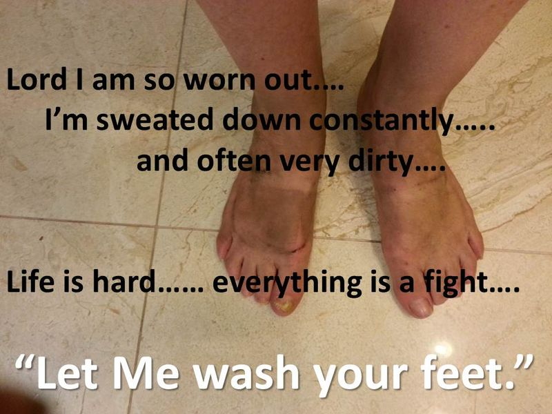 Let Me wash your feet.